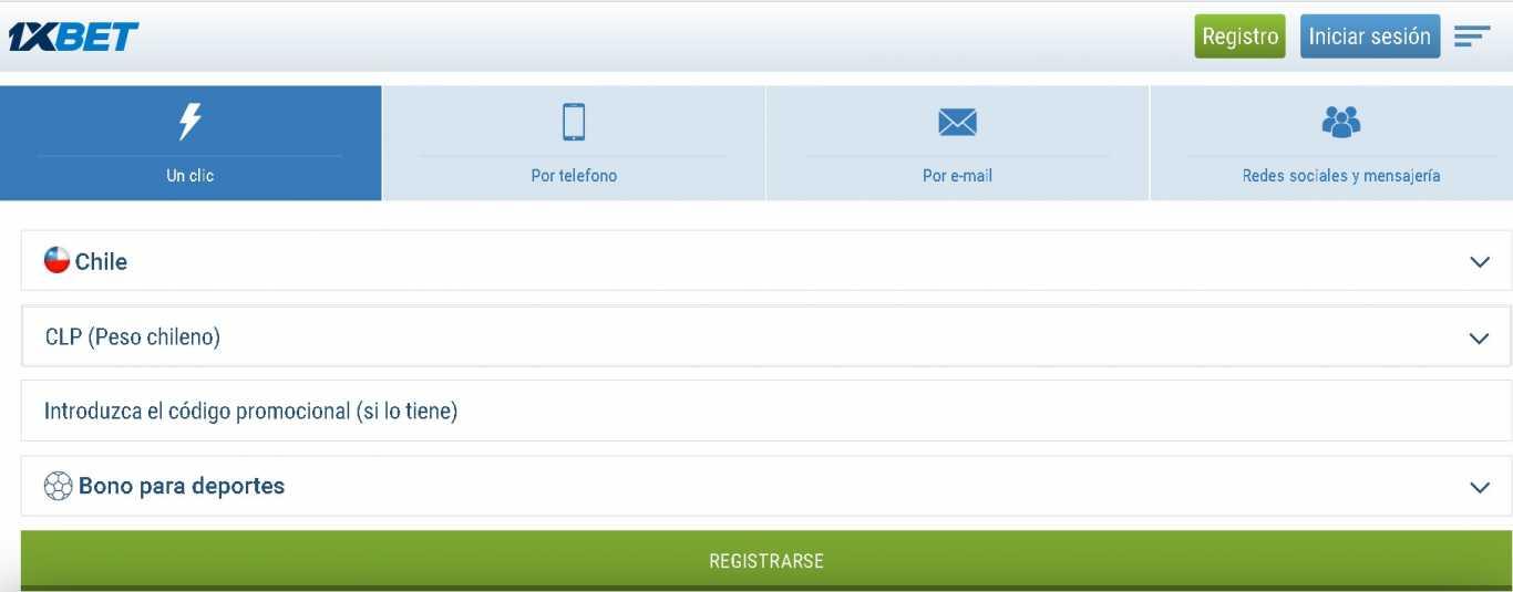 1xBet mobile register
