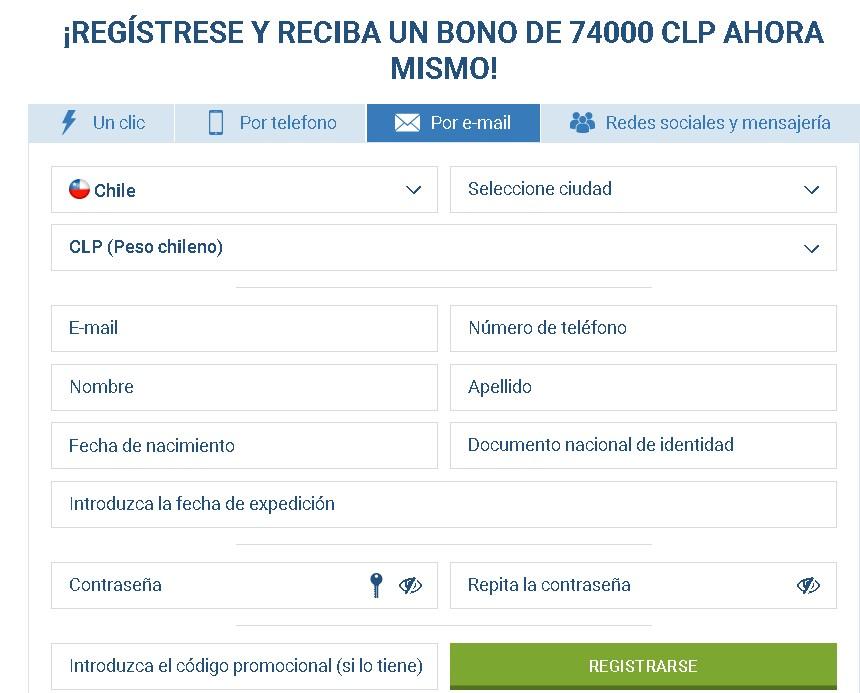 1xBet register